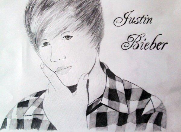 Un magnifique dessin fait par une un fan justin bieber - Justin bieber dessin ...